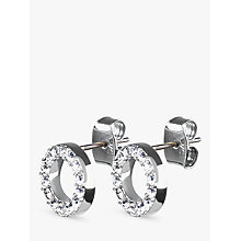 Buy Dyrberg/Kern Koro Brass Earrings, Silver Online at johnlewis.com