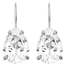 Buy Dyrberg/Kern Dew Cubic Zerconia Earrings, Silver Online at johnlewis.com