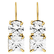 Buy Dyrberg/Kern Caprice Gold Cubic Zerconia Earrings Online at johnlewis.com