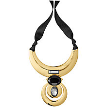 Buy Dyrberg/Kern Half Moon Pendant, Gold/Black Online at johnlewis.com