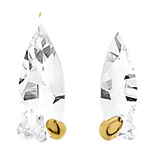 Buy Dyrberg/Kern Dew Cubic Zerconia Earrings, Gold Online at johnlewis.com