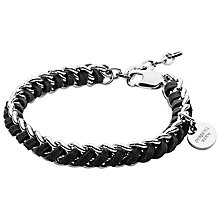 Buy Dyrberg/Kern Diora Bracelet, Silver/Black Online at johnlewis.com