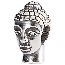 Buy Trollbeads Sterling Silver Head Of Buddha Charm Online at johnlewis.com