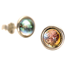 Buy Trollbeads Sterling Silver Big Iris Earrings, Silver/Multi Online at johnlewis.com