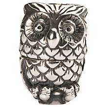 Buy Trollbeads Sterling Silver Night Owl Pendant Online at johnlewis.com