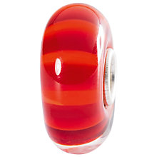 Buy Trollbeads Sterling Silver Autumn Rays Glass Bead, Red Online at johnlewis.com