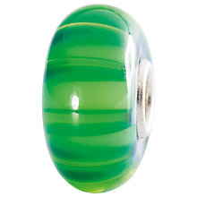 Buy Trollbeads Sterling Silver Swaying Straws Bead, Green Online at johnlewis.com