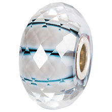 Buy Trollbeads Sterling Silver Moonbeam Glass Bead, White Online at johnlewis.com