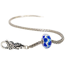 Buy Trollbeads Sterling Silver Harmony Bracelet, Blue Online at johnlewis.com