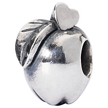 Buy Trollbeads Sterling Silver Apple Of Wisdm Charm Online at johnlewis.com