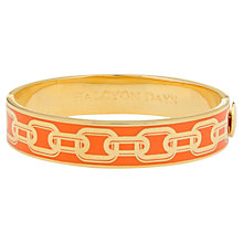 Buy Halcyon Days 18ct Gold Plated Hinged Enamel Chain Bangle Online at johnlewis.com