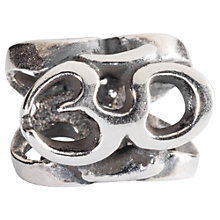 Buy Trollbeads Sterling Silver Om Charm Online at johnlewis.com