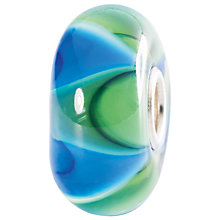 Buy Trollbeads Sterling Silver Mist Ripple Glass Bead, Green Online at johnlewis.com