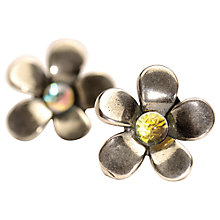 Buy Trollbeads Sterling Silver Flower Earrings, Silver/Multi Online at johnlewis.com