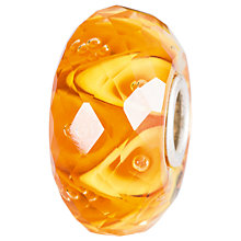 Buy Trollbeads Sterling Silver Luminous Daylight Faceted Glass Bead, Orange Online at johnlewis.com