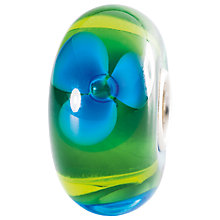 Buy Trollbeads Sterling Silver Brook Flower Glass Bead, Green Online at johnlewis.com