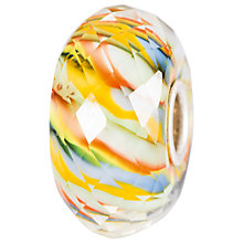 Buy Trollbeads Sterling Silver River Life Glass Bead, Yellow Online at johnlewis.com