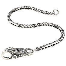 Buy Trollbeads Sterling Silver 19cm Lace Invitation Bracelet Online at johnlewis.com