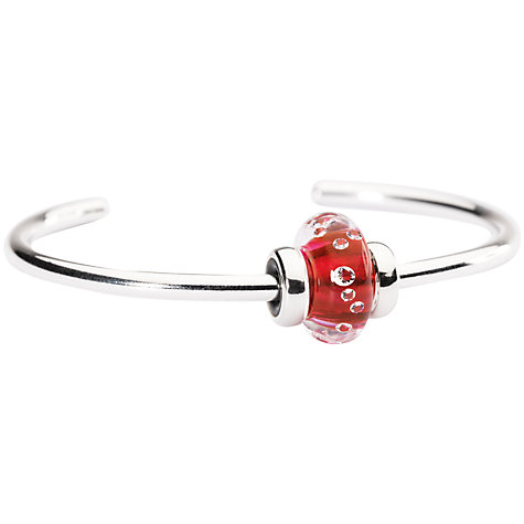 Buy Trollbeads Sterling Silver Sparkling Bangle, Pink Online at johnlewis.com