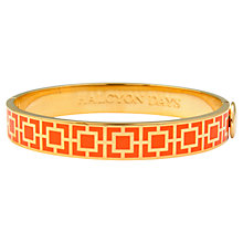 Buy Halcyon Days 18ct Gold Plated Enamel Mosaic Bangle Online at johnlewis.com