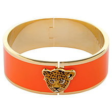 Buy Halcyon Days Large Leopard Head 18ct Gold Plated Bangle Online at johnlewis.com