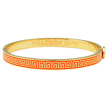 Buy Halcyon Days 18ct Gold Plated Mini Greek Key Enamel Bangle Online at johnlewis.com