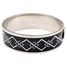 Buy Halcyon Days Palladium Plated Enamel Trellis Hinged Bangle Online at johnlewis.com