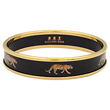 Buy Halcyon Days 18ct Gold Plated Enamel Tiger Motif Bangle, Black Online at johnlewis.com