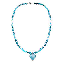Buy Martick Glass Heart Pearl Necklace Online at johnlewis.com