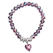 Buy Martick Murano Heart & Crystal Bracelet Online at johnlewis.com