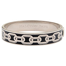 Buy Halcyon Days Palladium Plated Enamel Chain Hinged Bangle Online at johnlewis.com