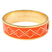 Buy Halcyon Days 18ct Gold Plated Trellis Bangle, Orange Online at johnlewis.com