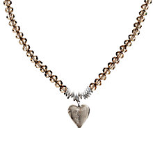 Buy Martick Murano Heart & Crystal Necklace Online at johnlewis.com