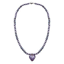 Buy Martick Glass Heart and Faux Pearl Pendant Necklace Online at johnlewis.com