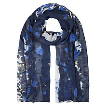 Buy Hobbs Painterly Floral Scarf, Navy/Multi Online at johnlewis.com