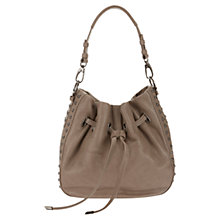 Buy Mint Velvet Gemma Leather Duffle Bag, Mink Online at johnlewis.com