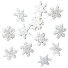 Buy Jesse James Glitter Snowflake Embellishments Online at johnlewis.com