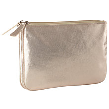 Buy John Lewis Metallic Double Pouch Toiletries Bag, Metallic Online at johnlewis.com