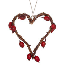 Buy John Lewis Twig and Berry Heart Hanging Decoration Online at johnlewis.com