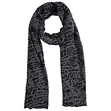 Buy Betty Barclay Rose Print Long Scarf, Black / Grey Online at johnlewis.com