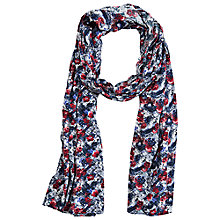 Buy Betty Barclay Tartan Long Scarf, Blue / Red Online at johnlewis.com