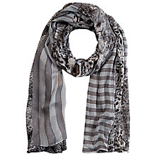 Buy Betty Barclay Animal Stripe Spot Printed Scarf, Grey Online at johnlewis.com
