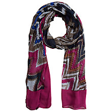Buy Betty Barclay Zigzag Print Long Scarf, Grey / Blue Online at johnlewis.com