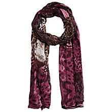 Buy Betty Barclay Animal Flower Print Scarf, Rosé / Brown Online at johnlewis.com
