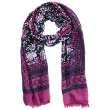 Buy Betty Barclay Flower Print Scarf, Pink / Blue Online at johnlewis.com