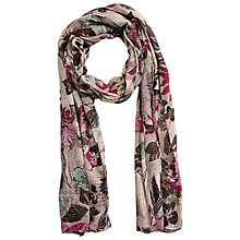 Buy Betty Barclay Flower Print Long Scarf, Brown / Rosé Online at johnlewis.com