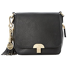 Buy Dune Dushroom Saddle Bag, Black Online at johnlewis.com
