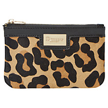 Buy Dune Koiny Single Leather Pouch, Leopard Online at johnlewis.com