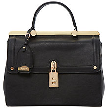 Buy Dune Dramey Padlock Bag, Black Online at johnlewis.com