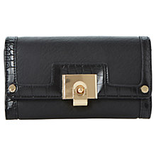 Buy Dune Klinton Fliplock Purse, Black Online at johnlewis.com